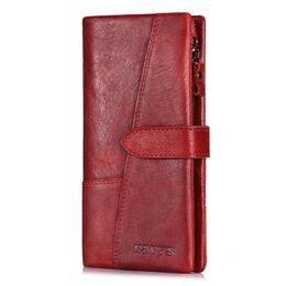 Женский кошелек KAVI'S, красный 1187