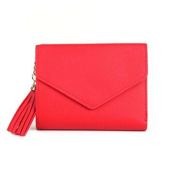 Женский кошелек DOMON, красный П1205