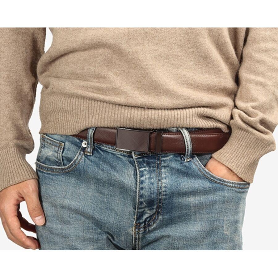 Мужские ремни и пояса - Мужской ремень DWTS, коричневый 1222