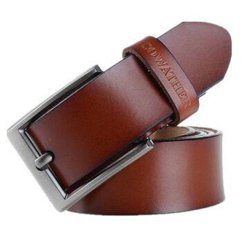 Мужской ремень COWATHER, коричневый  0021