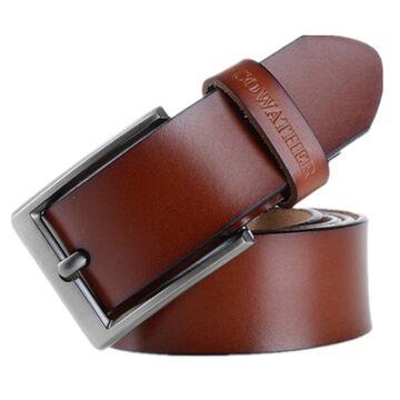 Мужской ремень COWATHER, коричневый  П0021