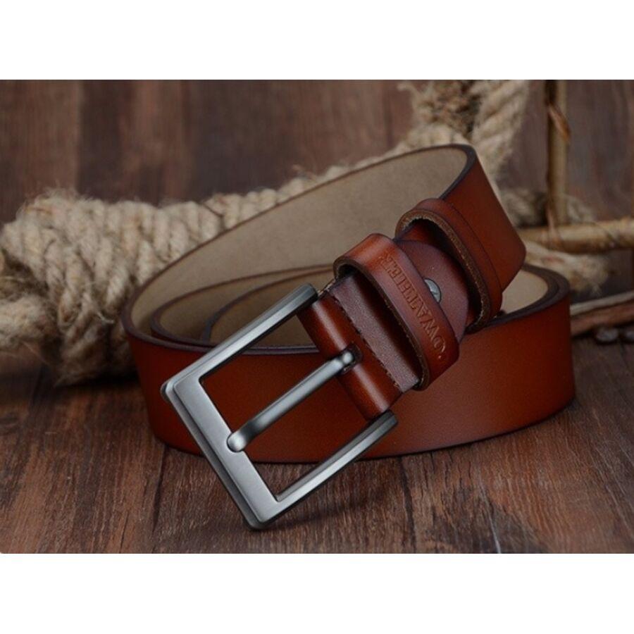 Мужские ремни и пояса - Мужской ремень COWATHER, коричневый 0021