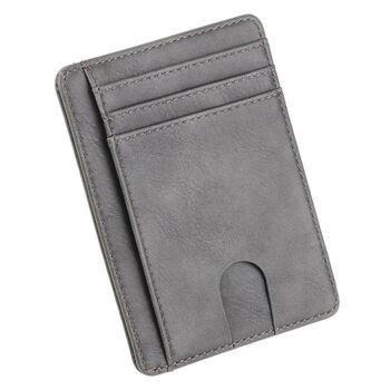 Тонкий кошелек THINKTHENDO, серый 1232