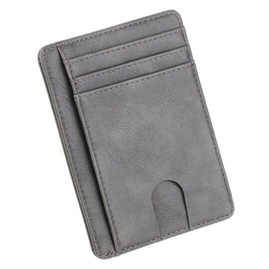 Мужские кошельки - Тонкий кошелек THINKTHENDO, серый П1232