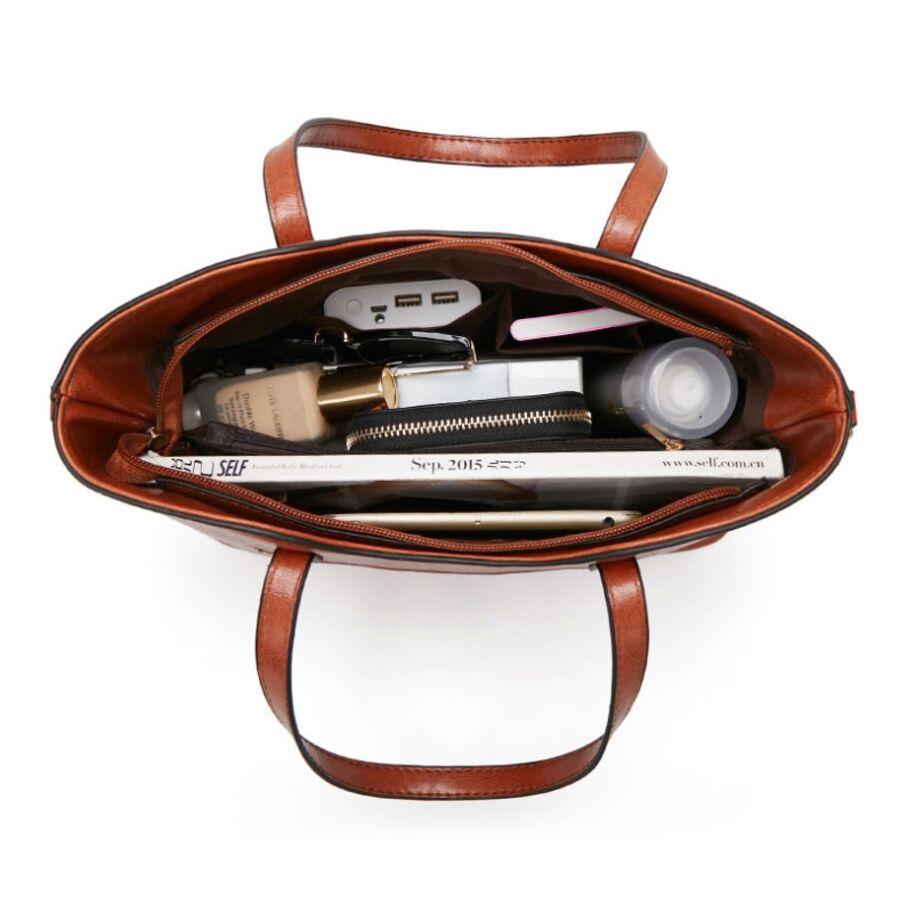 Женские сумки - Женская сумка ACELURE, коричневая 1240