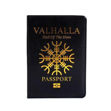 Обложка для паспорта, Вальхалла, черная П1243