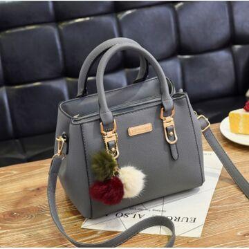 Женские сумки - Женская сумка, серая П0023