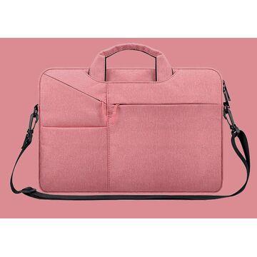 Сумка GOOJODOQ, для ноутбука розовая П1258