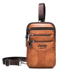 Мужская сумка JEEP BULUO коричневая 1271
