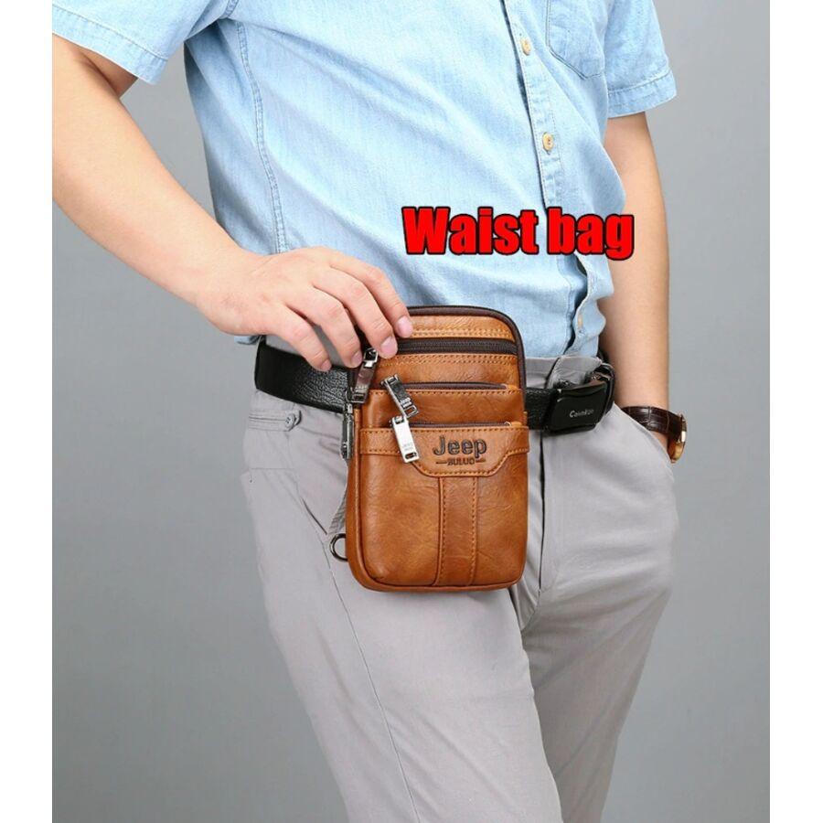 Барсетки - Мужская сумка JEEP BULUO коричневая П1271