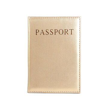 Обложка для паспорта, золотистая П1287