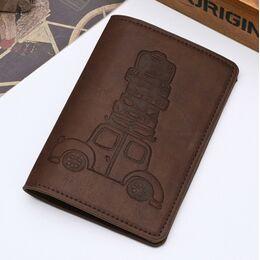 Обложка для паспорта, коричневая 1295