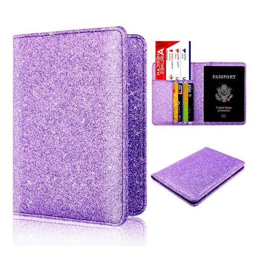 Обложка для паспорта, фиолетовая П1296