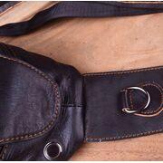Мужские сумки - Мужская сумка слинг на плечо AETOO, коричневая П1301