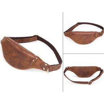 Мужская сумка поясная, бананка Misfits, коричневая 1302