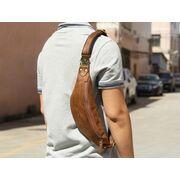 Мужская сумка поясная, бананка Misfits, коричневая П1302