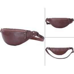 Мужская сумка поясная, бананка Misfits, коричневая 1304