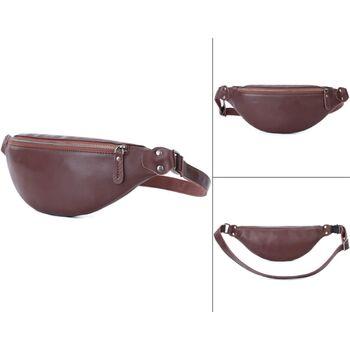 Мужская сумка поясная, бананка Misfits, коричневая П1304