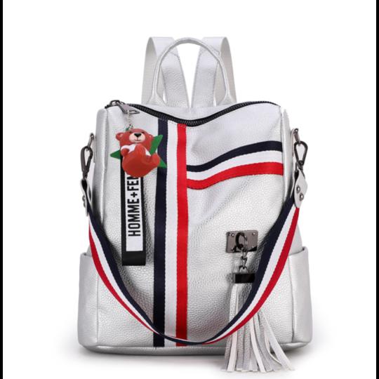 Женские рюкзаки - Женский рюкзак LISM, серебристый П1324