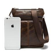 Мужские сумки - Мужская сумка WESTAL, коричневая П0033