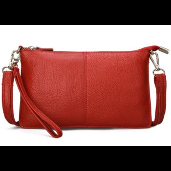 Женская сумка клатч, красная П1329