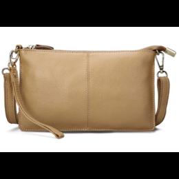 Женская сумка клатч, бежевая 1331