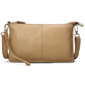 Женская сумка клатч, бежевая П1331
