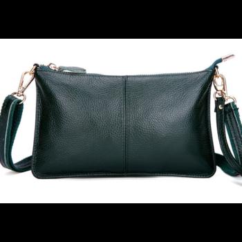Женская сумка клатч, зеленая П1332