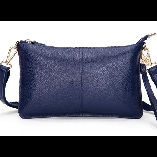 Женские сумки - Женская сумка клатч, синяя П1333