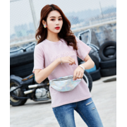 Женская поясная сумка, бананка, розовая П1337