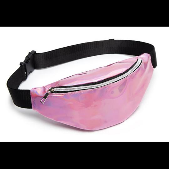 Женская поясная сумка, бананка, розовая П1341