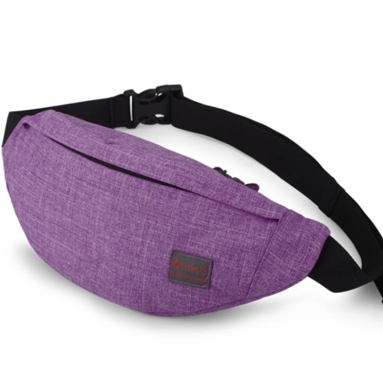 Поясные сумки - Сумка поясная, бананка TINYAT, фиолетовая П1343