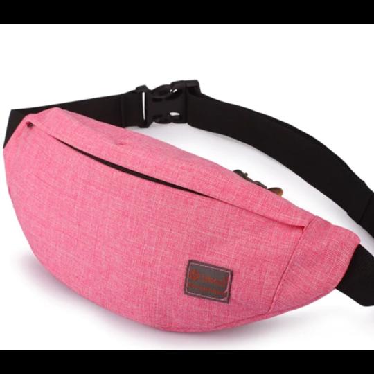 Поясные сумки - Сумка поясная, бананка TINYAT, розовая П1345
