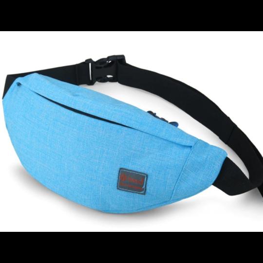 Поясные сумки - Сумка поясная, бананка TINYAT, голубая П1347