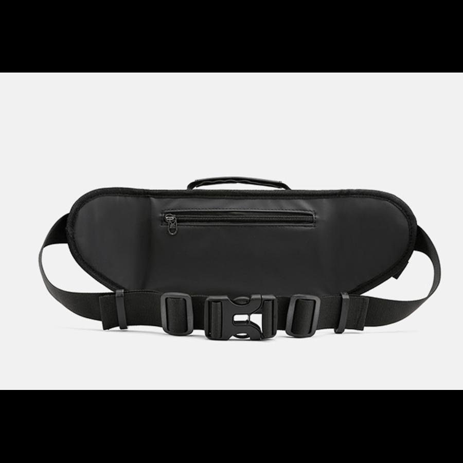 Мужские поясные сумки - Мужская сумка поясная, бананка, хаки П1350