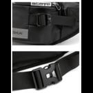 Мужские поясные сумки - Мужская сумка поясная, бананка, черная 1352
