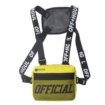 Уличная сумка, жилет, нагрудная, желтая 1363