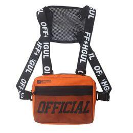 Уличная сумка, жилет, нагрудная, оранжевая 1364