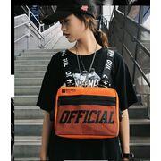 Уличная сумка, жилет, нагрудная, оранжевая П1364
