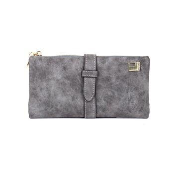 Женский кошелек, серый П0039