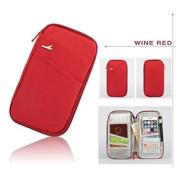 Кошелек органайзер для путешествий, красный П1399