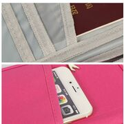 Кошельки - Кошелек органайзер для путешествий, красный П1399
