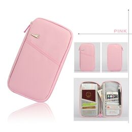 Кошелек органайзер для путешествий, розовый 1400