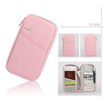 Кошелек органайзер для путешествий, розовый П1400