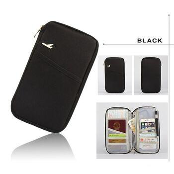 Кошелек органайзер для путешествий, черный 1403