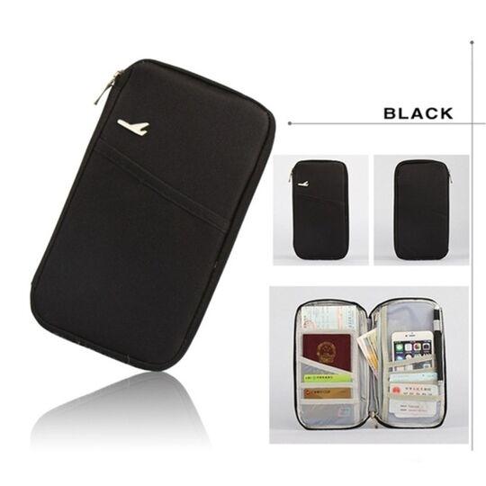 Кошельки - Кошелек органайзер для путешествий, черный П1403