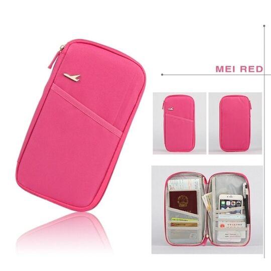 Кошельки - Кошелек органайзер для путешествий, розовый П1404