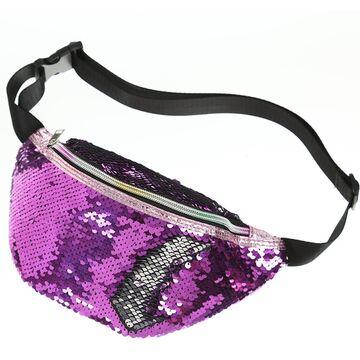 Женская поясная сумка, бананка, фиолетовая П1406