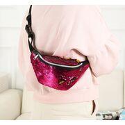 Поясные сумки - Женская поясная сумка, бананка, фиолетовая П1406