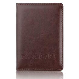 Обложка для паспорта, коричневая 1410